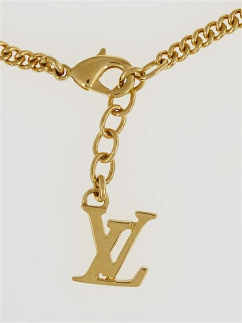 Louis Vuitton Monogram Costume Jewelry by Louis Vuitton Goldtone Metal Multicolor Sweet Monogram
