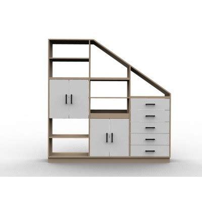 Meuble Sous Comble by Rangement Sous Escalier Sur Mesure Isabelle Sans Portes