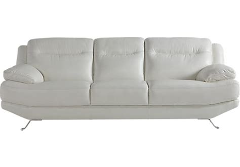 rooms to go white sofa white leather sofa