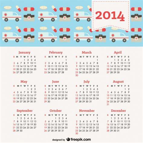 Calendario Salud Calendario 2014 Con Concept Salud Descargar Vectores Gratis