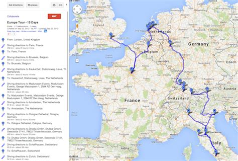 map for trip planning wades into personal trip planning with tour builder