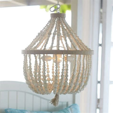 white wood bead chandelier look 4 less and steals and deals