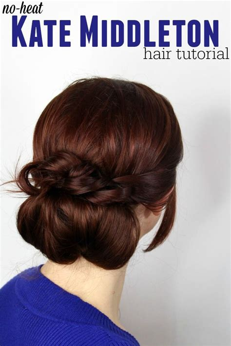easy hairstyles no heat super easy less than 10 minutes no heat kate middleton