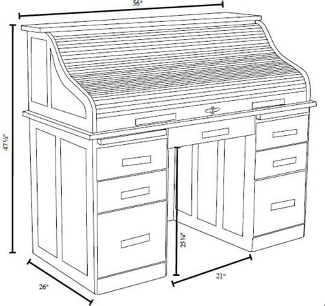 space saver roll top desk solid wood
