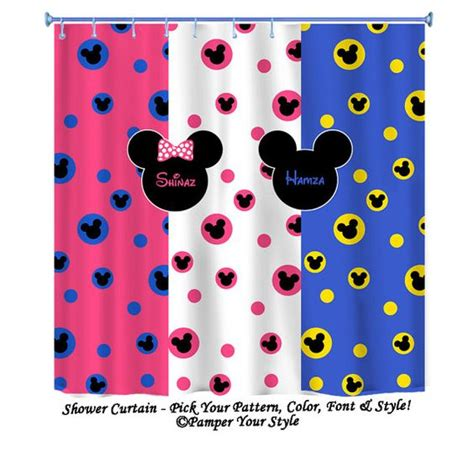 mickey mouse fabric shower curtain mickey disney sibling disney shower curtain minnie and