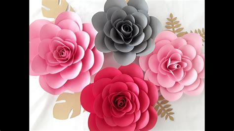 paper camellia flower tutorial diy paper camillia flower tutorial youtube