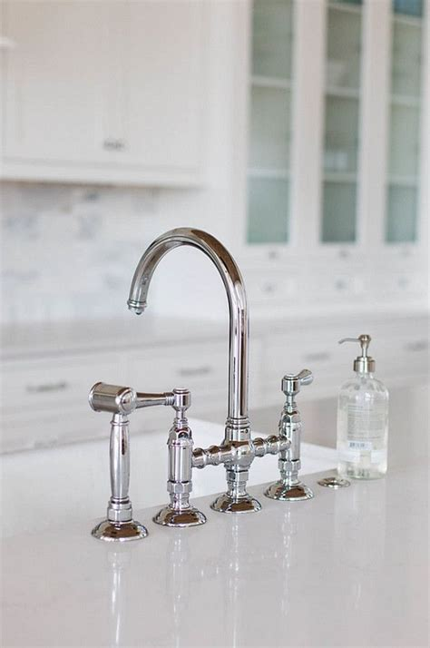 country kitchen sink faucets rohl polished nickel country kitchen three leg bridge