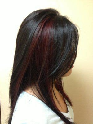 pictures of sapphire black hair with red highlights 1000 images about highlights on pinterest big hair