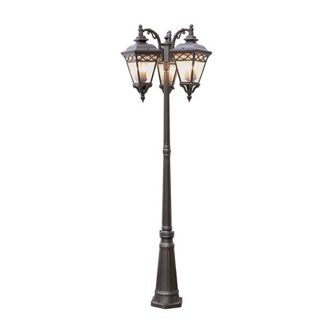 Trans Globe 50518 B 3 Light Pole Post Mount Light Atg Stores Outdoor Pole Lighting Fixtures