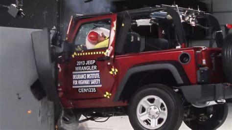 Jeep Wrangler Crash Test Iihs 2013 Jeep Wrangler 2door Small Overlap Crash Test