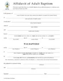 affidavit of baptism fill online printable