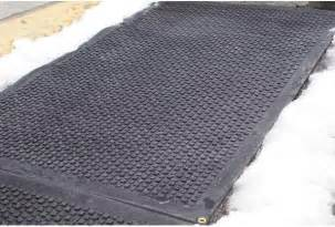 heated cubes premium snow melting walkway mats