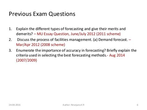 Mba Question Mizzou by Mba Om 05 Forecasting Foroperations