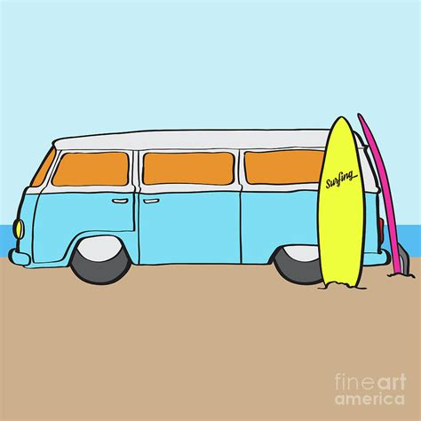volkswagen van with surfboard clipart 100 volkswagen van drawing everything interesting