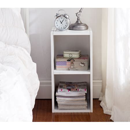 Cube Nightstand by The Cube Nightstand White Walmart