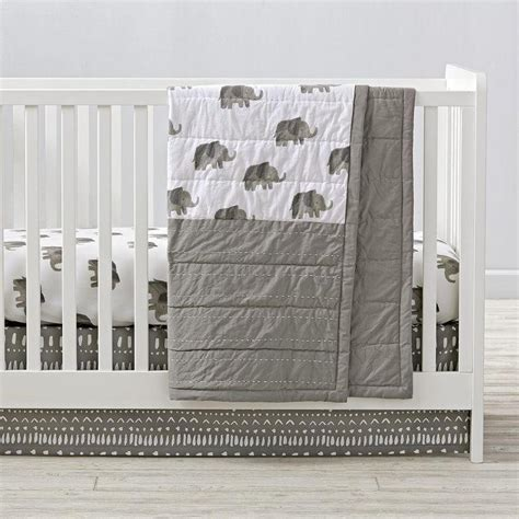 Gray Elephant Crib Bedding Gray And White Elephant Crib Bedding And Quilt