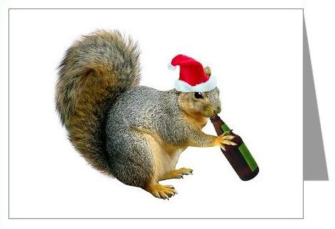 cats clips santa squirrel drinking beer