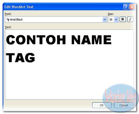 membuat tag html cara membuat name tag untuk mos sekaringidep