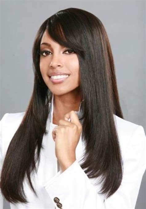 black hairstyles long hair bangs weave hair styles black weave hairstyles long straight
