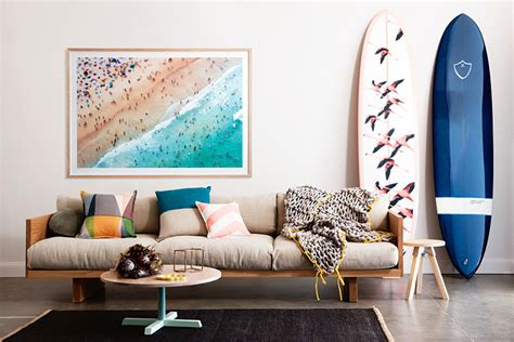 surf home decor 14 surfboards that work perfectly as beach chic decor
