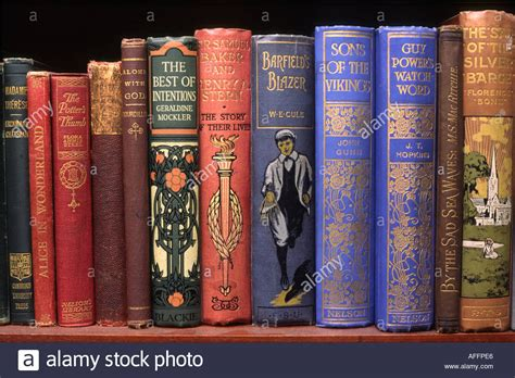 On The Shelf Book Read It by Reading Line Of Books On Shelf Stock Photo Royalty