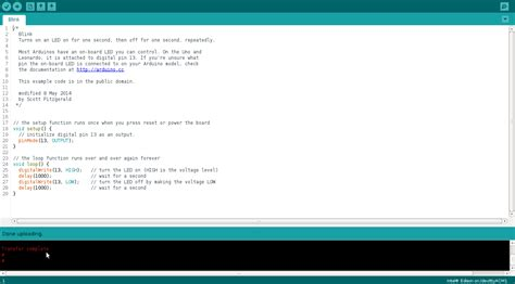 arduino code exles arduino inteledison