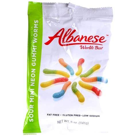 neon wholesale wholesale albanese gummi mini sour neon worms glw