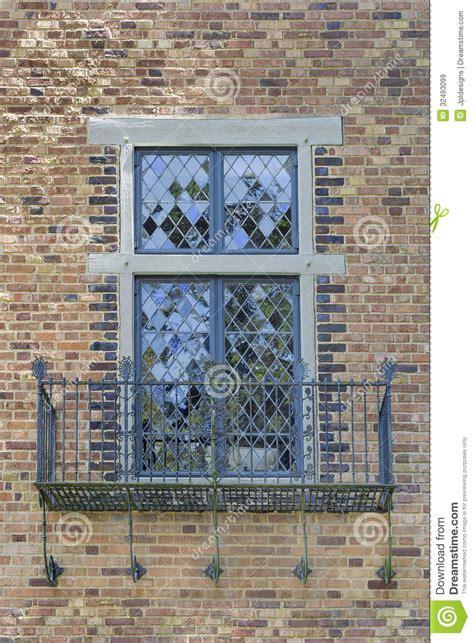 tudor style windows tudor style windows with balcony stock image image 32493099