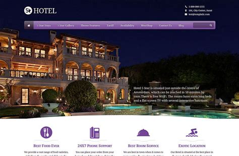 theme hotel full screen 40 best hotel wordpress themes 2018 athemes