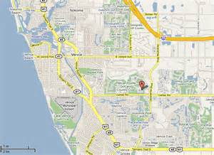 map to our venice florida villa vacation rental in pelican