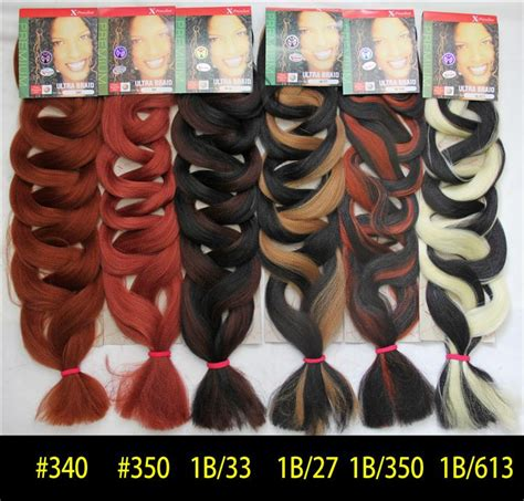 xpression braiding hair color chart synthetic hair dreadlocks kanekalon jumbo ultra braid hair