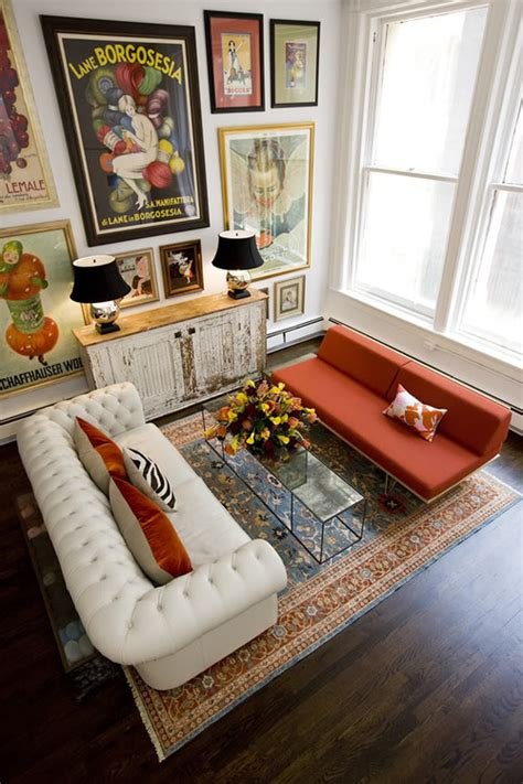 houzz eclectic living room mix match style redamancy lit
