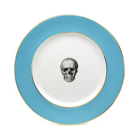 blue plates melody blue skull dinner plate melody