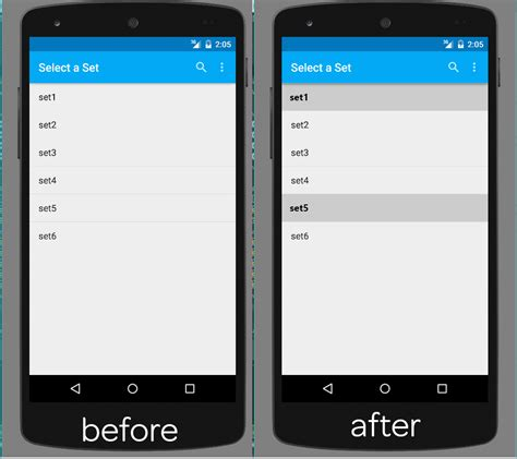 android layout xml string array java how to change style of specific rows in android