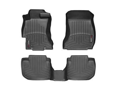 weathertech floor mats floorliner for subaru crosstrek 2016 2017 black ebay