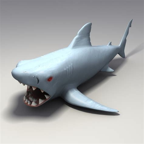 shark rubber st 3d model rubber shark