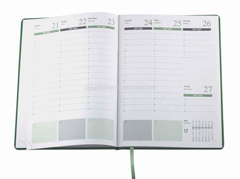 2015 calendar organizer diary agenda leather note book