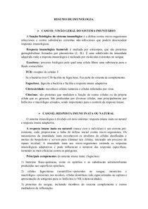 Resumo Imunologia básica (COMPLETO) | Imunologia