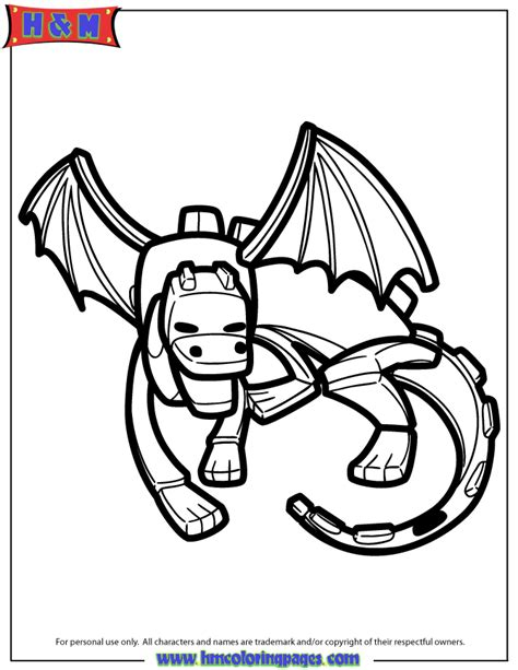 minecraft ender dragon coloring page ender dragon cartoon coloring page h m coloring pages