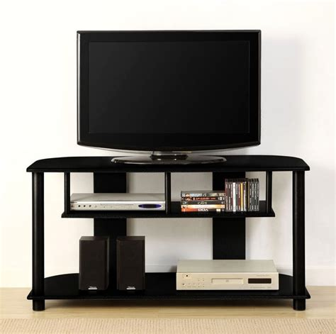 modern tv stands innovex tv stand w 3 glass shelves and