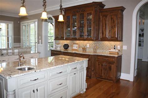 knotty alder kitchen cabinets knotty alder cabinets stained dark cream island kitchen
