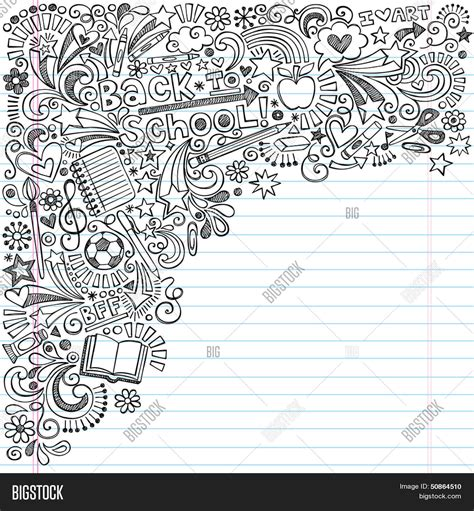 doodle paper doodle notebook paper background www pixshark