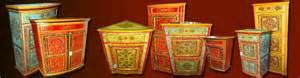 meubles indiens peints issus de l artisanat du nord