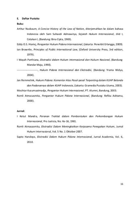 Prinsip Prinsip Hukum Pidana By Eddy O S Hiariej ekstradisi sebagai sebuah perjanjian internasional