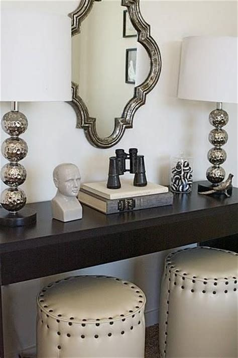 Entryway Table With Stools Underneath by Gorgeous Entry Design Wood Console Table Ivory