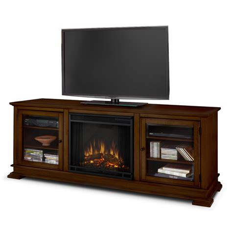 real hudson electric fireplace in espresso