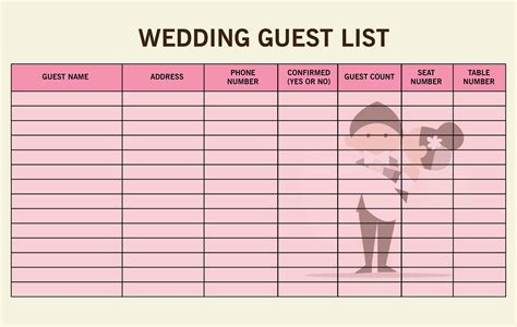 the easy steps on creating your wedding guest list hizon s catering - How To Set Up A Wedding Guest List In Excel