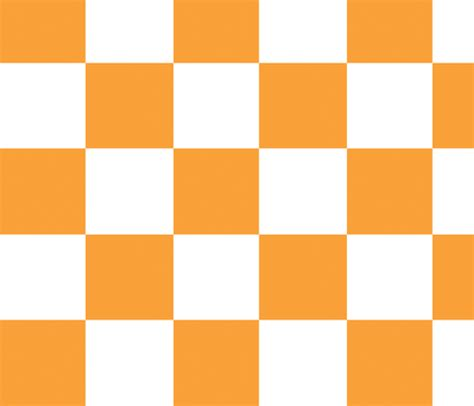 Tennessee State Flower by Orange Checkerboard Fabric Bliberty Spoonflower