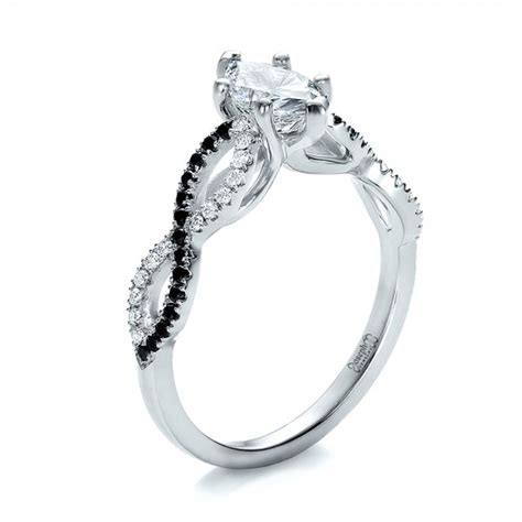 custom two tone and marquise engagement ring 100620