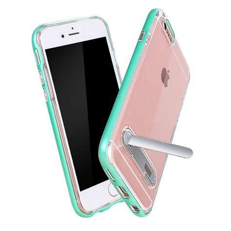 wholesale apple iphone     clear armor bumper kickstand case rose gold